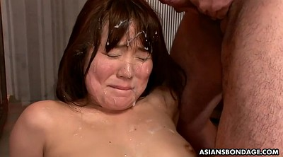 Slave, Japanese bdsm, Japanese anal, Close up, Hairy creampie, Japanese slave