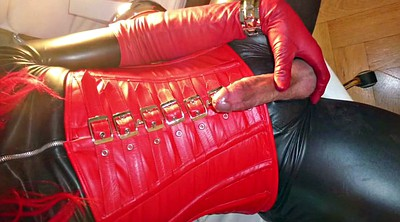 Leather, Gloves, Crossdresser, Leather boot