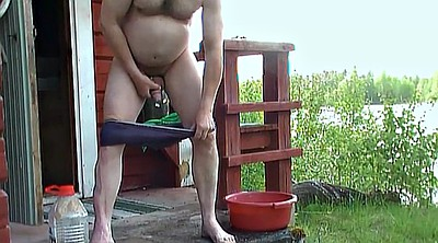 Daddy, Old man, Sauna, Granny handjob, Man, Sauna old
