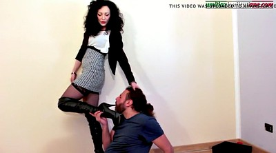 Foot job, Boots, Boot, Humiliation, Femdom boot, Mature foot