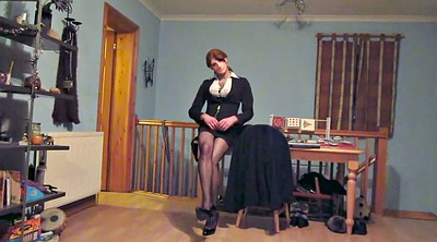 Heels, Skirt, Mini skirt, Nylons