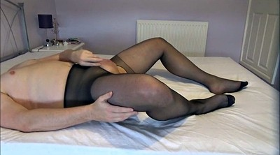 Black pantyhose, Pantyhose masturbation, Gay pantyhose