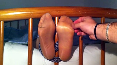 Tickling, Nylon feet, Nylon foot, Tickle