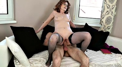 Doggy, Hairy granny, Riding cock, Milf glasses, Old guy, Hairy old