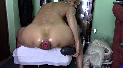 Prolapse, Huge dildo, Prolapsed, Huge ass anal