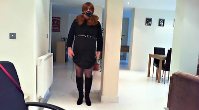 Stocking, Gay bondage, Clothed solo
