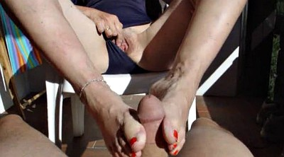 Milf feet, Milf footjob