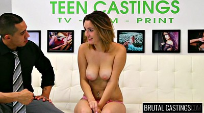 Brutal, Peeing, Busty teen, Young tits, Castings