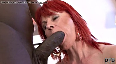Lady, Ebony mature, Interracial granny