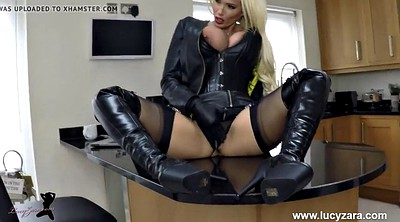 Boots, Blacked, Leather, Gloves
