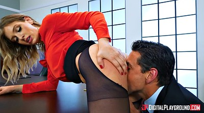 Secretary, Pantyhose office, Lick panties