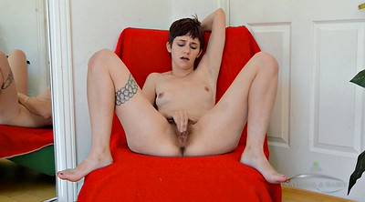 Hairy masturbating, Shorthair