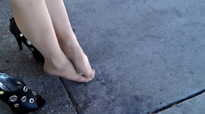Pantyhose feet, Pantyhose foot, Pantyhose fetish, Pantyhose tease, Feet tease