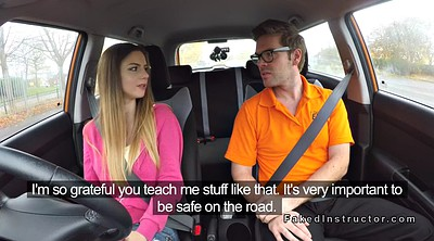 Tits in school, Natural amateur, Driving school