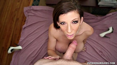 Mom handjob, Mature handjob