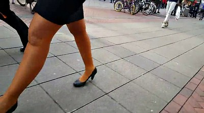 Pantyhose, Skirt, Legs, Walking