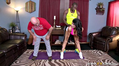 Cuckold, Romi rain, Cuckold husband, Trainer, Interracial cuckold