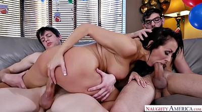 Missionary, Nude, Double penetration, Reagan foxx, Reagan, Sons friend