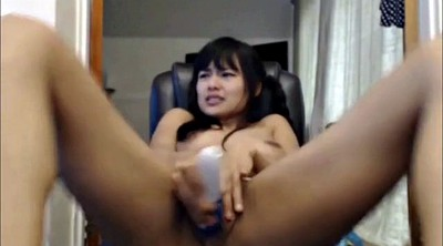 Squirt, Machine sex, Asian webcam