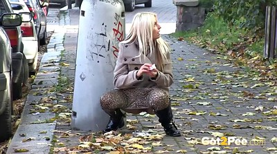 Piss, Caught, Public outdoor, Piss on