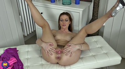 Hairy mature, British milf