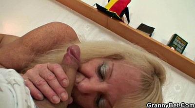 Old, Stocking, Old and young, Matures, Blonde old, Granny black