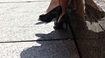 Shoe, Shoes, High heels, Candid soles, Candid foot, Candid feet