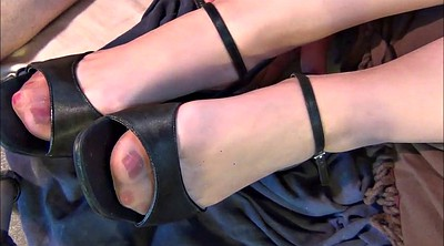 Stocking, Shoe, Nylon feet, Nylon foot, Sexy milf, Stocking foot