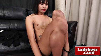 Asian shemale, Big ass solo