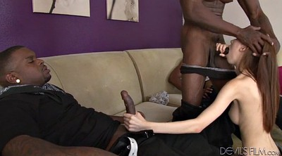 Interracial gangbang, Ebony creampie