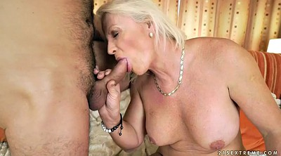 Young blonde, Granny sex