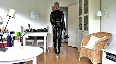 Sissy, Sissy gay, Leather, Boot