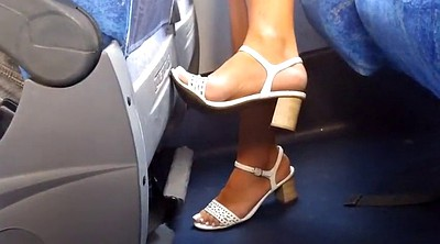 Brazilian, Milf feet, On bus, Candid feet