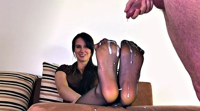 Cum on feet, Nylon feet, Step mother, Nylons