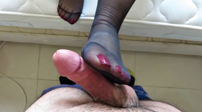 Footjob, Nylon footjob, Nylon feet, Nylons, Nylon cumshot, Footjob nylon