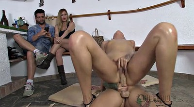 Spanked, Lubed, Pussy spank, Lesbian toy