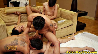 Pee, Asian piss, Asian orgy, Asian pissing