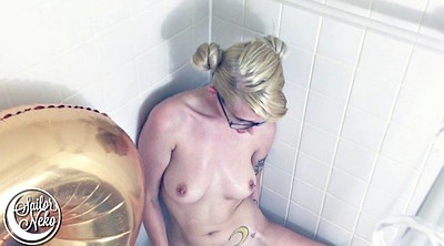 Skinny, Fingering solo, Teen shower