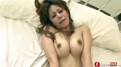 Asian double, Double penetration, Hairy creampie, Finger