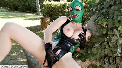Feet slave, Suit, Wet pussy, In latex, Slaves