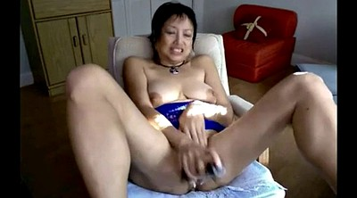 Masturbation, Asian mature, Asian granny, Granny dildo masturbation, Mature webcam, Mature dildo
