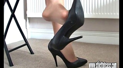 High heels, Leg, Foot tease, Long legs, Long leg