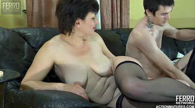Ebony mature, Creampie mature, Young creampie