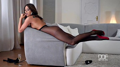 Pantyhose feet, In pantyhose, Out, Feet solo
