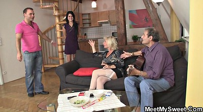 Threesome mature, Teens first, Old young threesome, Meeting