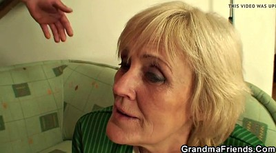 Old, Granny swallow, Mature swallow, Two cock