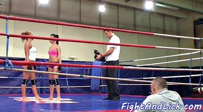 Wrestling, Fight, Lesbians fight, Cat, Boxing