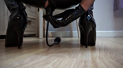 Boot, Butt plug, Latex anal