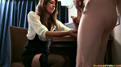 Stockings, Cfnm handjob
