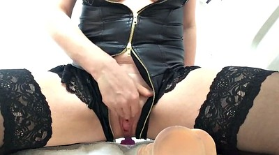 British milf, Squirting dildo